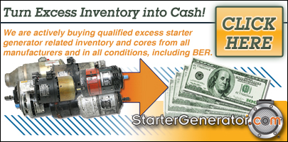 We buy excess starter generator inventory